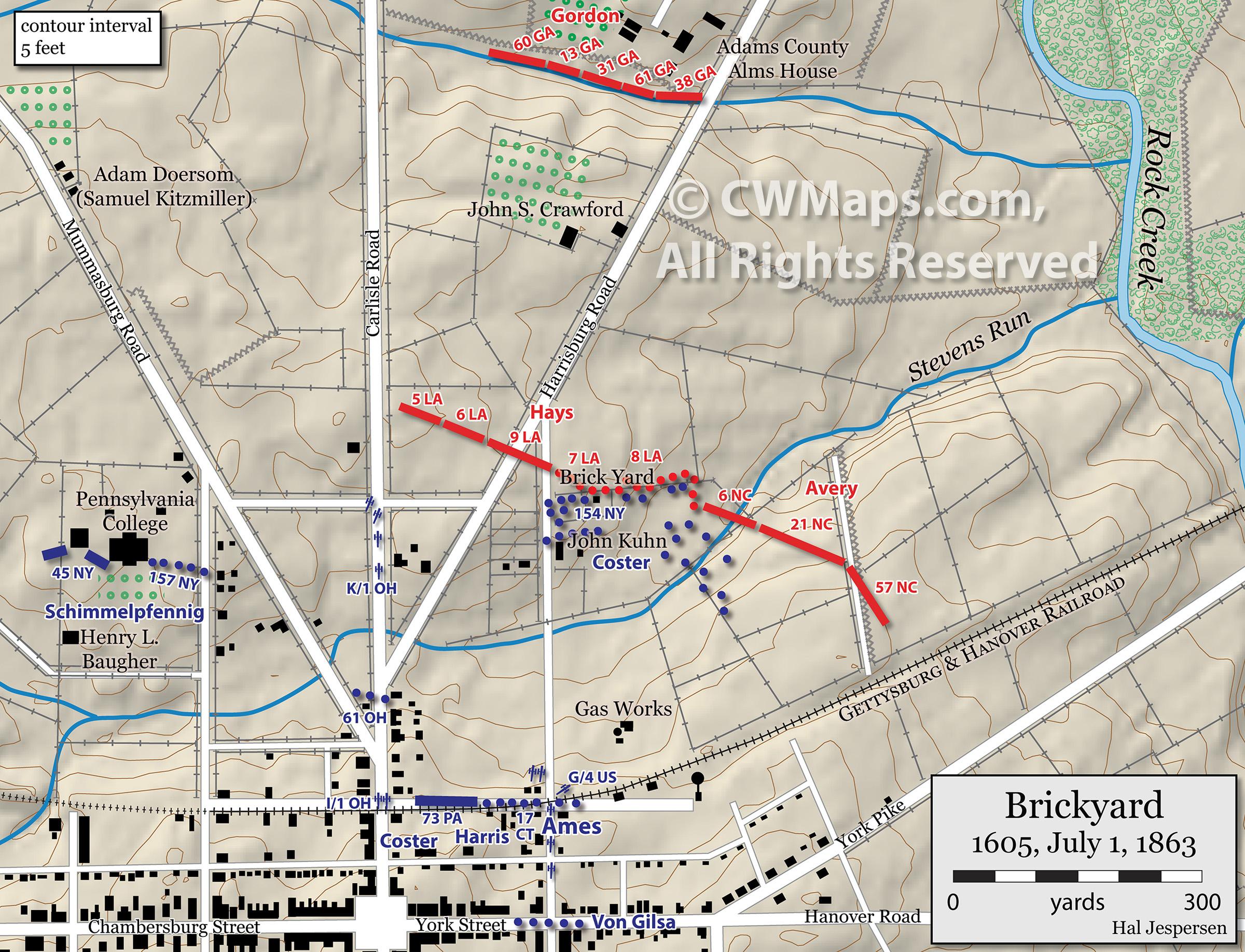 Hal Jesn's Civil War Cartography Portfolio and Sample Maps on