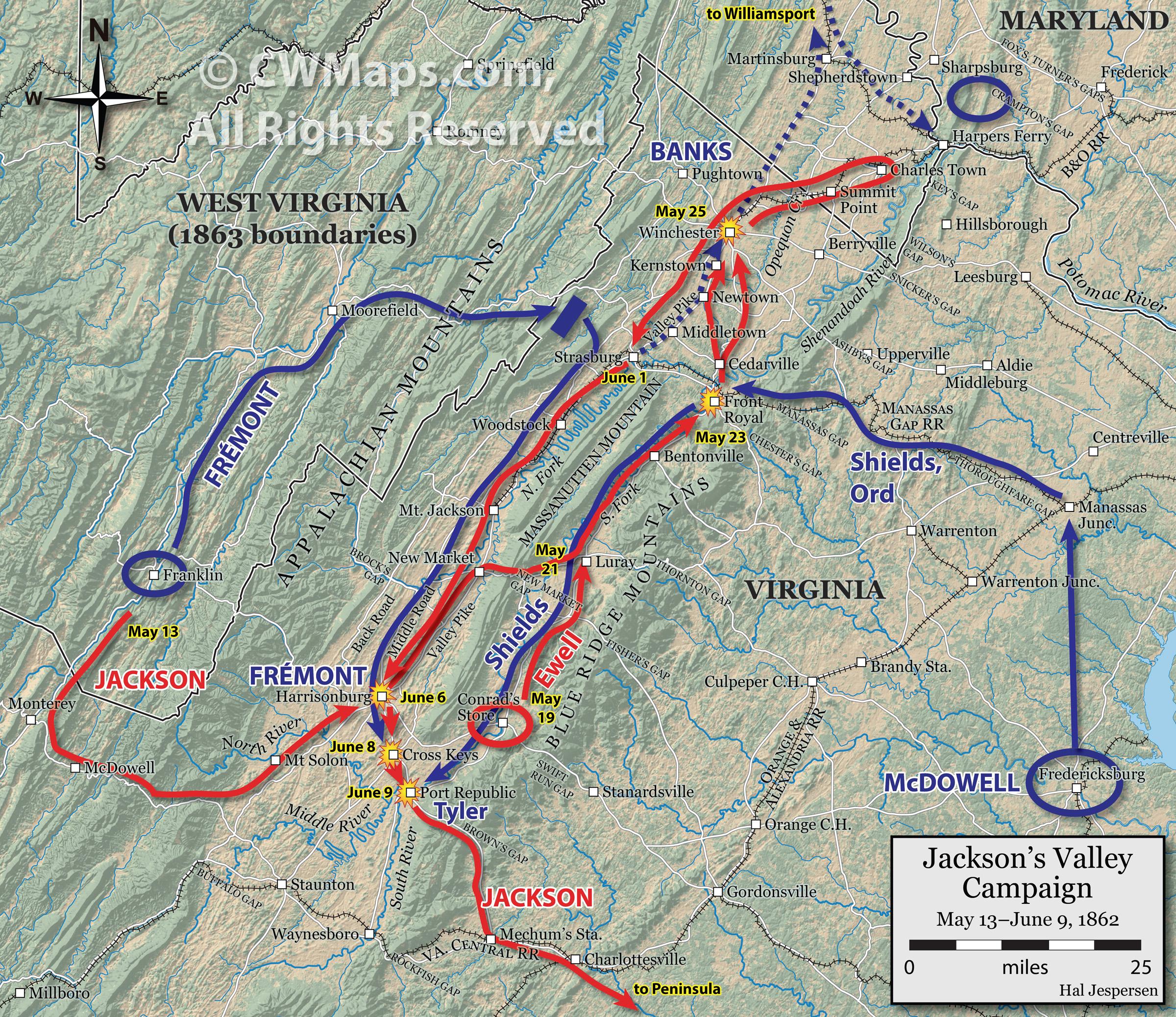 Hal Jespersens Civil War Cartography Portfolio And Sample Maps - Us-map-civil-war-era